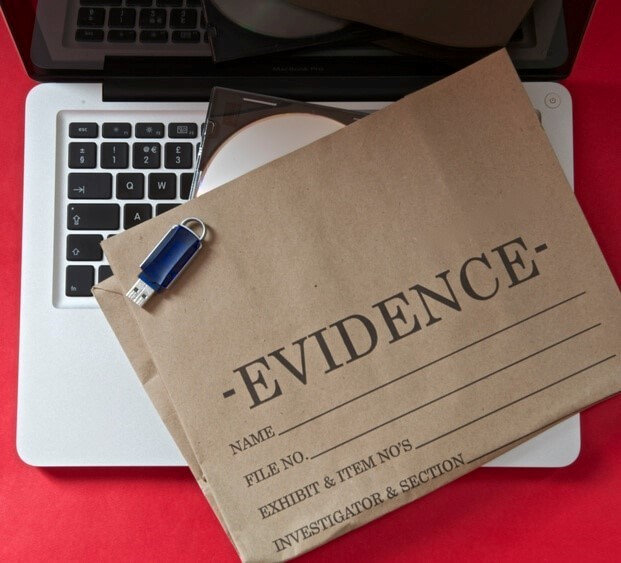 Evidence collected by expert witness