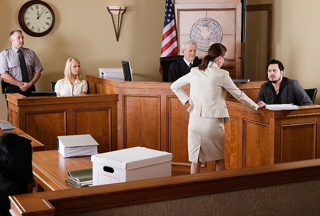 Prosecution occurring at personal injury trial